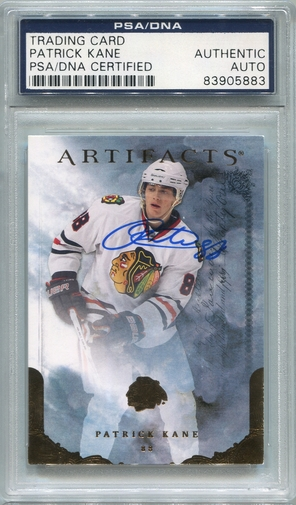 Patrick Kane PSA/DNA Certified Authentic Autograph - 2010 Upper Deck Artifacts #6