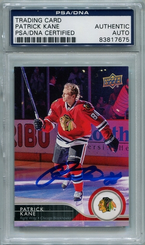 Patrick Kane PSA/DNA Certified Authentic Autograph - 2014/15 Upper Deck