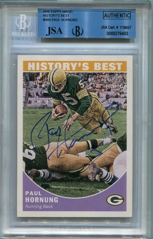Paul Hornung BGS/JSA Certified Authentic Autograph - 2010 Topps Magic