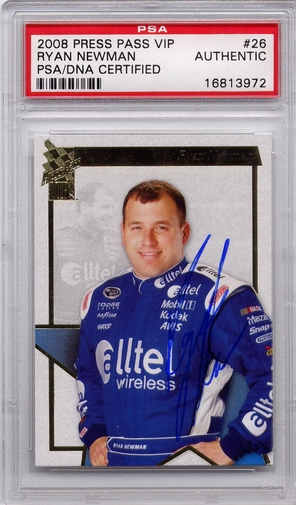 Ryan Newman PSA/DNA Certified Authentic Autograph - 2008 Press Pass VIP