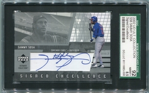 Sammy Sosa SGC Certified Authentic Autograph - 2002 Upper Deck Ultimate Collection