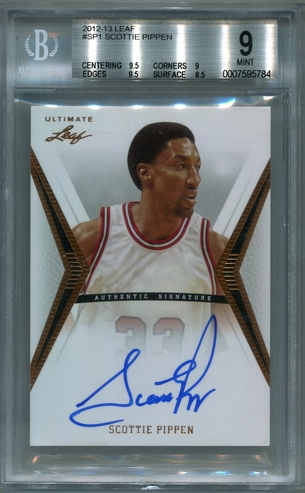 Scottie Pippen BGS Certified Authentic Autograph - 2012 Leaf