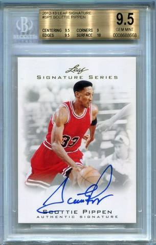 Scottie Pippen BGS Certified Authentic Autograph - 2012 Leaf Signature