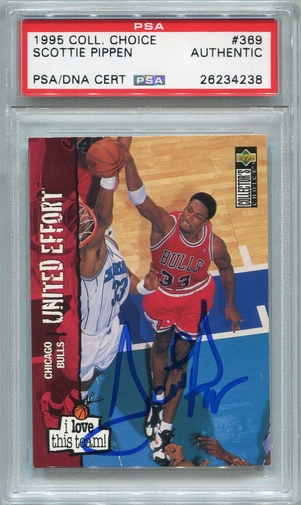 Scottie Pippen PSA/DNA Certified Authentic Autograph - 1995 UD Collector's Choice