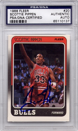 Scottie Pippen Rookie PSA/DNA Certified Authentic Autograph - 1988 Fleer (BL137)