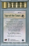 Stacy Lewis BGS Certified Authentic Autograph - 2014 Upper Deck SP Authentic