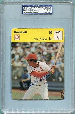 Stan Musial PSA/DNA Certified Authentic Autograph - 1977 Sportscaster