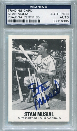 Stan Musial PSA/DNA Certified Authentic Autograph - 1977 TCMA
