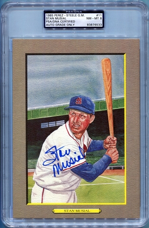 Stan Musial PSA/DNA Certified Authentic Autograph - Perez-Steele Great Moments Postcard