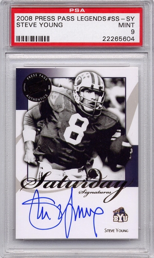 Steve Young PSA/DNA Certified Authentic Autograph - 2008 PP Legends