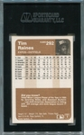 Tim Raines SGC Certified Authentic Autograph - 1983 Fleer