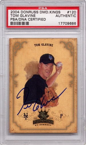 Tom Glavine PSA/DNA Certified Authentic Autograph - 2004 Donruss DK