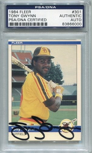 Tony Gwynn PSA/DNA Certified Authentic Autograph - 1984 Fleer