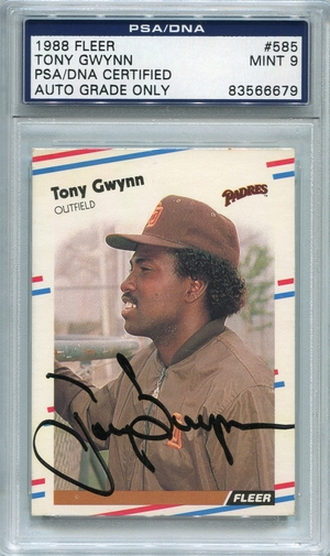 Tony Gwynn PSA/DNA Certified Authentic Autograph - 1988 Fleer
