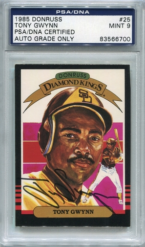Tony Gwynn PSA/DNA Certified Authentic Autograph - 1985 Donruss DK