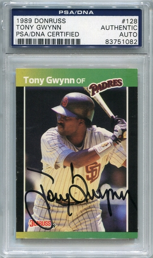 Tony Gwynn PSA/DNA Certified Authentic Autograph - 1989 Donruss