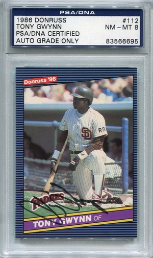 Tony Gwynn PSA/DNA Certified Authentic Autograph - 1986 Donruss