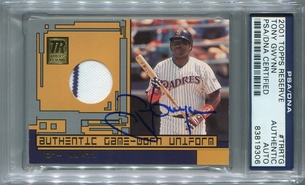 Tony Gwynn PSA/DNA Certified Authentic Autograph - 2001 Topps Reserve