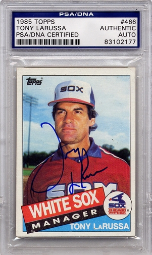Tony LaRussa PSA/DNA Certified Authentic Autograph - 1985 Topps
