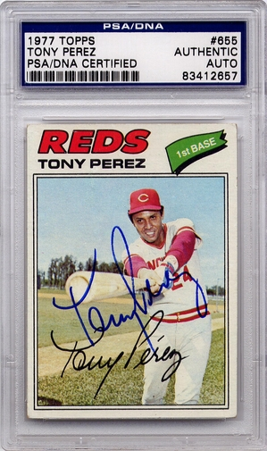 Tony Perez PSA/DNA Certified Authentic Autograph - 1977 Topps