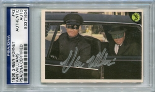Van Williams PSA/DNA Certified Authentic Autograph - 1966 Green Hornet #42