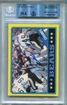 Walter Payton BGS/JSA Certified Authentic Autograph - 1986 Topps #9