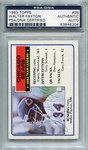 Walter Payton PSA/DNA Certified Authentic Autograph - 1983 Topps