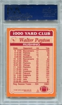Walter Payton PSA/DNA Certified Authentic Autograph - 1986 Topps 1000 Yard Club