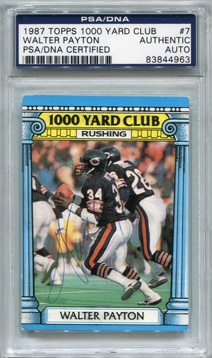 Walter Payton PSA/DNA Certified Authentic Autograph - 1987 Topps 1000 Yard Club (BL4963)