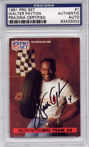 Walter Payton PSA/DNA Certified Authentic Autograph - 1991 Pro Set
