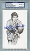 Whitey Ford PSA/DNA Certified Authentic Autograph - Ted Williams Postcard - PSA 10