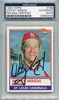 Whitey Herzog PSA/DNA Certified Authentic Autograph - 1983 Topps