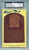 Willie Mays PSA/DNA Certified Authentic Autograph - Hall of Fame Plaque Postcard