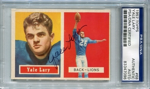 Yale Lary (HOF) PSA/DNA Certified Authentic Autograph - 1957 Topps