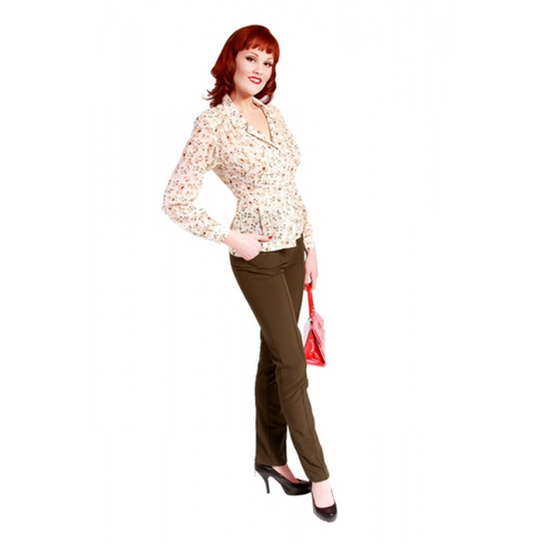 Bettie Page Jan Flower Blouse **Blouse Only**