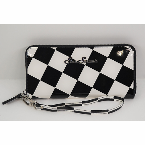 Black and White Checkerboard Wallet/Wristlet