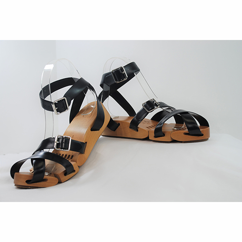 Flexible Wedge Sandals **Black Straps Only**