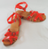 Flexible Wedge/Heel Sandals **Red Straps Only**