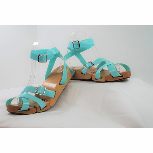 Flexible Wedge Sandals **Teal Straps Only**