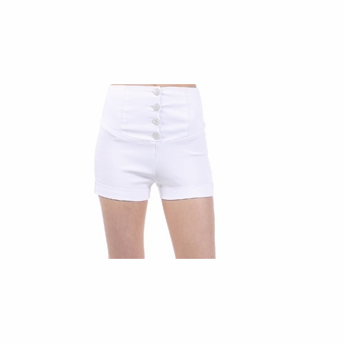 High Waisted Shorts - White