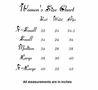 Size Chart For Star Struck Clothing Custom Projects