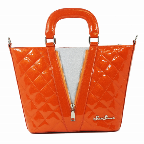 Vixen Tote - Orange Crush/Silver