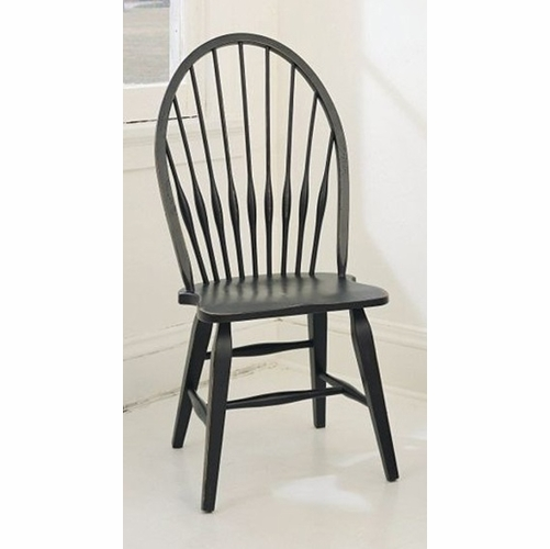 Broyhill - Attic Heirlooms Windsor Side Chair in Antique Black  Set of 2 - 5397-85B