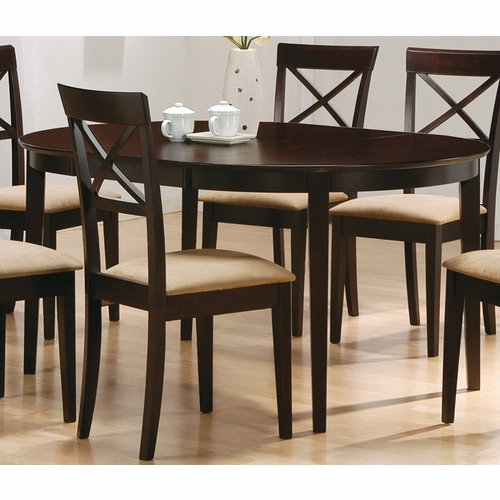 Coaster Dining Table Cappuccino 100770