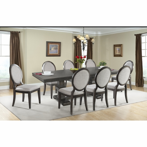 picket house furnishings. Picket House Furnishings - Steele 9PC Dining Set- Table \u0026 8 Round Fabric Chairs DMO100RFSC9PC L