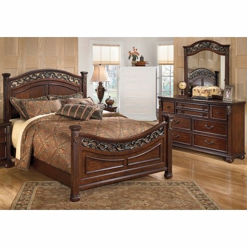 signature design by ashley leahlyn 3 piece queen bedroom set - Ashley Bedroom Sets