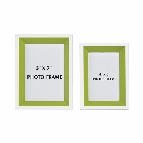 Signature Design by Ashley - Obie - White/Green Photo Frame (Set of 2) - A2080003 - Quickship