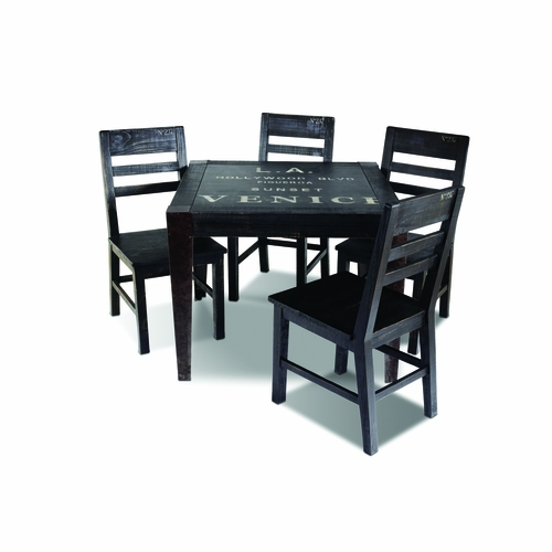 Sunset Trading 5 Piece Graphic Dining Table Set Hh