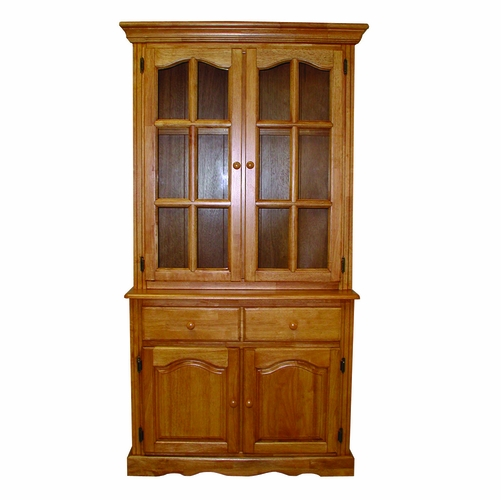 Sunset Trading Keepsake Buffet And Lighted Hutch In
