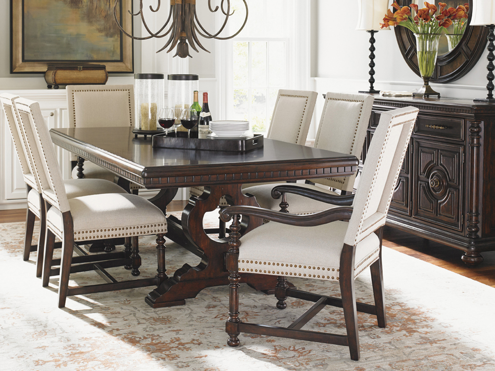 Charmant Tommy Bahama Home   Kilimanjaro Expedition Rectangular Dining Table    01 0552 877C